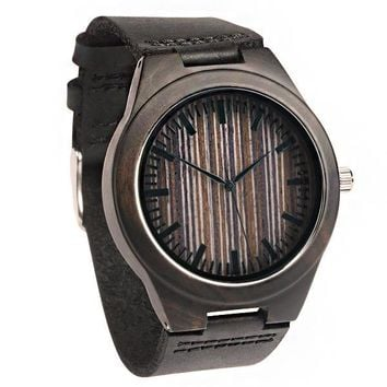 Wood Engraved Bamboo Watch ~ Apex