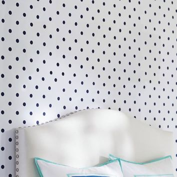 Wall Decal, Navy Mini Dottie