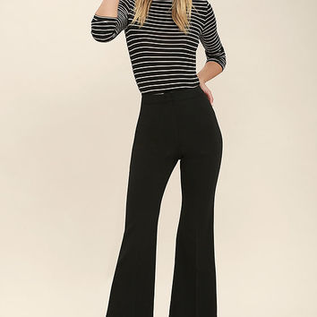 ASTR the Label Bo Black Trouser Pants