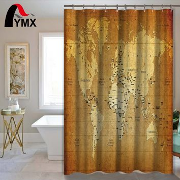 World Map Bathroom Product Waterproof Polyester Fabric Shower Curtain Bath Decor Home Accessory for Bathroom
