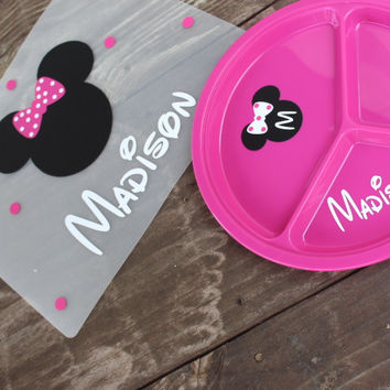 Personalized kids placemat plate and cup set PERFECT gift!