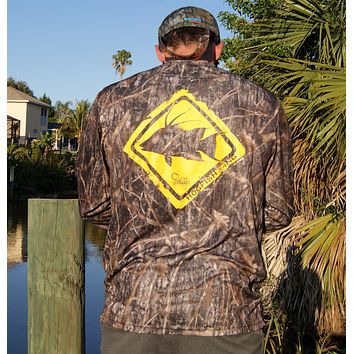 Hogfish Crossing Camo UPF Long Sleeve Shirt