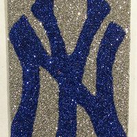 Sparkly New York Yankees iPhone 4/4G OR iPhone 5 Cell Phone Case