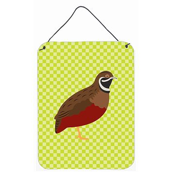 Chinese Painted or King Quail Green Wall or Door Hanging Prints BB7782DS1216