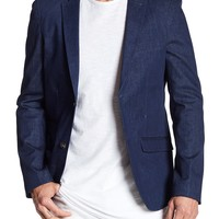 EDGE by WD.NY | Blue Denim Two Button Notch Lapel Sport Coat | Nordstrom Rack