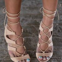 Midnight Memories Nude Strappy Heels