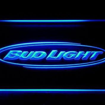 Bud Light Beer Bar Pub Club LED Neon Sign with On/Off Switch 7 Colors 4 Sizes