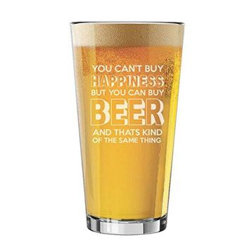 Funny Pint Glasses for Men  Fun Beer Lovers Gifts for Dad Fathers Day Him Her Birthdays Juice Style