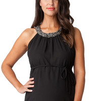 Ripe Maternity Darling Embellished Neckline Top
