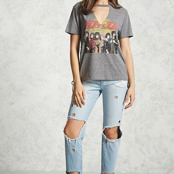 Bon Jovi Lace-Up Band Tee