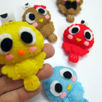 Cute Bird V2 Keychain/Ornament, Magnet - Johsua, Ryan, Chloe