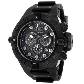 Invicta 11803 Men's Subaqua Noma IV Black Dial Black IP Steel Rubber Strap Chronograph Dive Watch