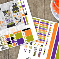 October Theme Planner Sticker Sheet