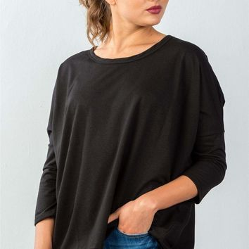 Button Back Sweater - Black