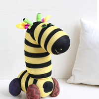 Handmade  Personalized   Giraffe  for kids  Stuffed Animal  baby  Plush Toy    Ready to Ship
