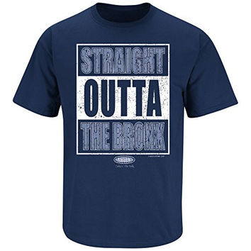 New York Yankees Fans. Straight Outta The Bronx. Navy T Shirt (Sm-5X) (2XL)