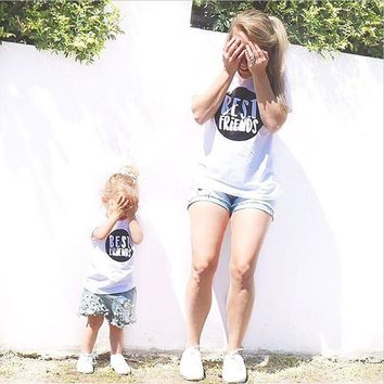 Mother Son Outfits Mum and Baby Son Daughter Clothes Matching Shirts