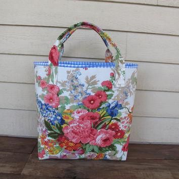Market tote in Ralph Lauren floral chintz weekend bag, large purse