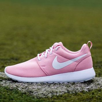 NIKE Roshe Run Women Casual Sport Shoes Sneakers Pink I 36cee17585