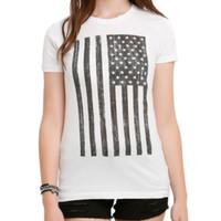 Distressed Flag Girls T-Shirt