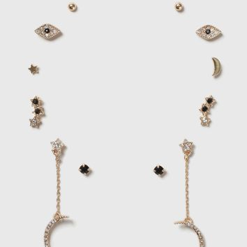Moon and Eye Earring Pack | Topshop