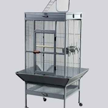 BIRD - CAGES: LARGE BIRDS - PARROT WROUGHT IRON CAGE 24X20X60 - PEWTER - PREVUE PET PRODUCTS, INC - UPC: 48081315231 - DEPT: BIRD PRODUCTS