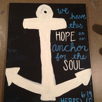 Hebrews 6:19 Anchor Bible verse painting