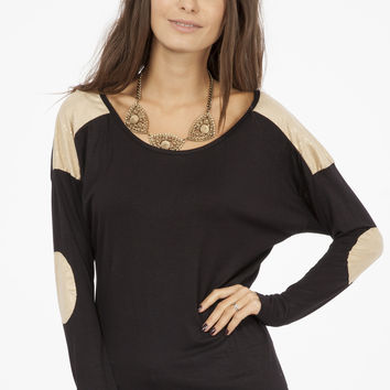 Shimmer Gold Shoulder and Elbow Patches - Black