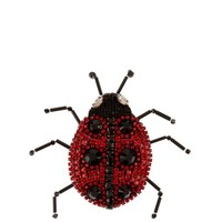 Lady Bug crystal-embellished brooch | Gucci | MATCHESFASHION.COM US