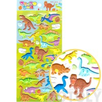 T-Rex Stegosaurus Triceratops Dinosaur Shaped Puffy Stickers for Scrapbooking