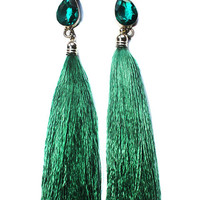 Lillian Silk Tassel Statement Earrings