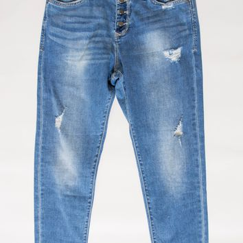 Dear John Cropped Light Skinny Denim