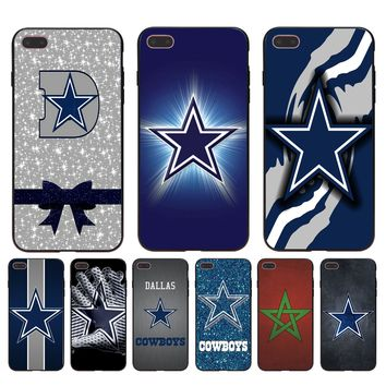 Dallas Cowboys Glitter Luxury Quality Phone accessories Case for Apple iPhone 8 7 6 6S Plus X 5 5S SE 5C case cover