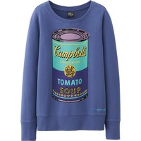 WOMEN SPRZ NY LONG SLEEVE SWEAT PULLOVER (ANDY WARHOL) | UNIQLO