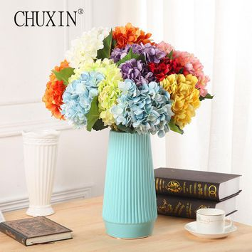 HI-Q Artificial silk Flowers Hydrangea fake flower balls Home decorations for wedding party spring/autumn style 1pcs
