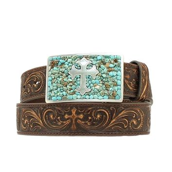 Nocona Women's Cross Buckle Leather Belt - N3423002