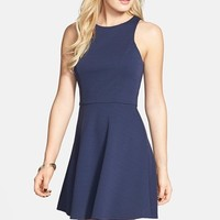Junior Women's Socialite Textured Skater Dress