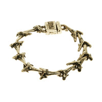 Brass Ox Shark Tooth Tennis Bracelet