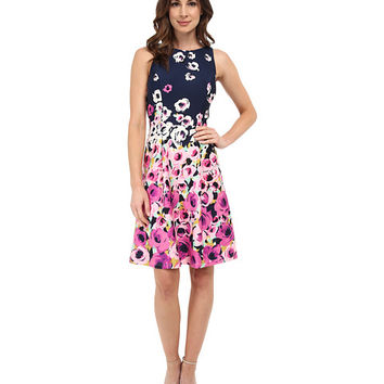 Adrianna Papell Fit And Flare Printed Dress