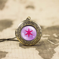 My little pony Twilight sparkle unicorn cutie mark MLP vintage pendant locket necklace - ready for gifting - buy 3 get 4th one free