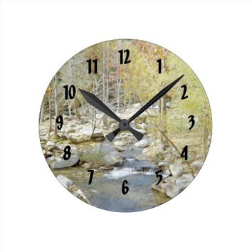 Quiet Getaway At The Creek Round Clock
