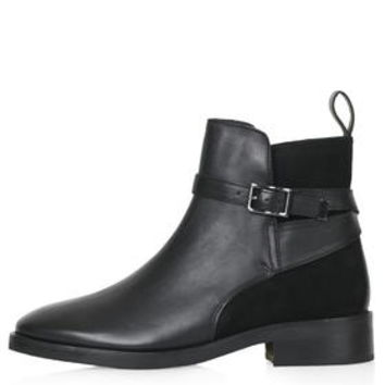 ANGELO Suede Panel Jodphur Ankle Boots - Black