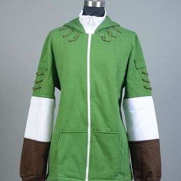 The Legend of Zelda Link Hoodie Men Zipper Coat Jacket Hoody Sweater Cosplay Costume