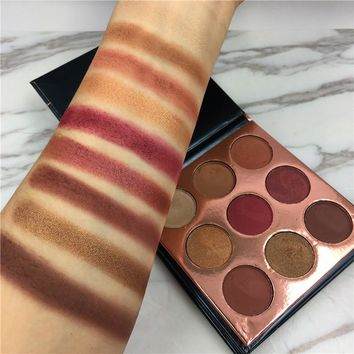 2017 New Shimmer Matte Eye Palette Makeup Waterproof Pigment Warm Nude Color Beauty Glazed Brand Professional Eyeshadow Palette