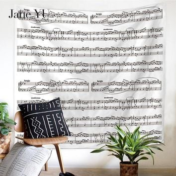 Jane YU Home Decor wall Tapestry Trees European Beautiful Scenery 3D Printing musical notation Art Hanging Tapestry