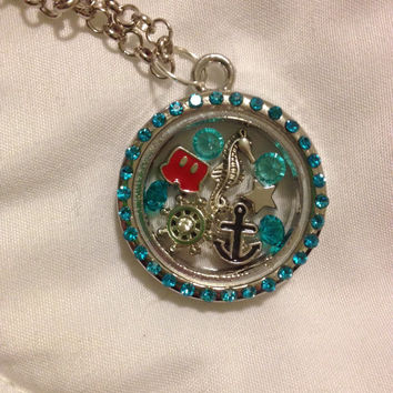 Disney Cruise Vacation Floating Charm Memory Locket