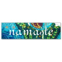 namaste bumper stickers from Zazzle.com