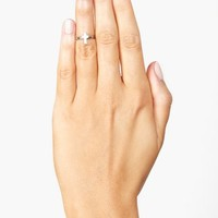 Cross Knuckle Ring - Silver