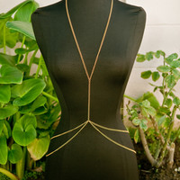 Gold Double Layer Body Chain
