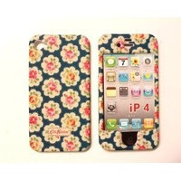 Faceplate Blue Field Flowers Plastic Back Case Cover for iPhone 4 Front and Back Case Cover